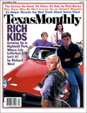 Cover of Texas Monthly December 1980