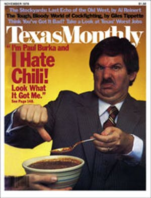 Cover of Texas Monthly November 1978