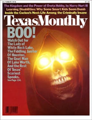 Cover of Texas Monthly October 1978