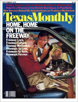Cover of Texas Monthly September 1978