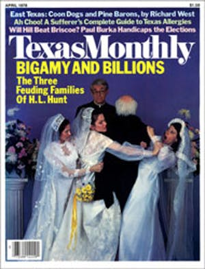 Cover of Texas Monthly April 1978