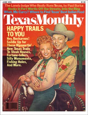 Cover of Texas Monthly June 1978