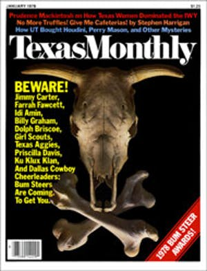 Cover of Texas Monthly January 1978