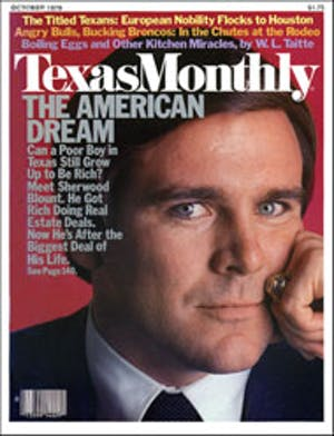 Cover of Texas Monthly October 1979