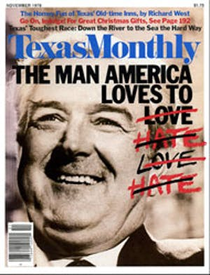 Cover of Texas Monthly November 1979