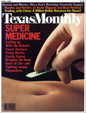 Cover of Texas Monthly April 1979