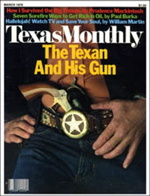 Cover of Texas Monthly March 1979