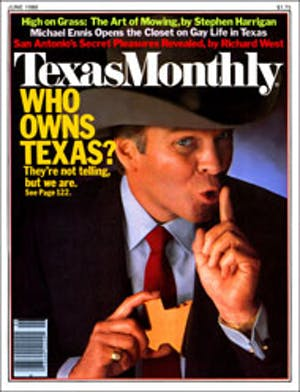 Cover of Texas Monthly June 1980