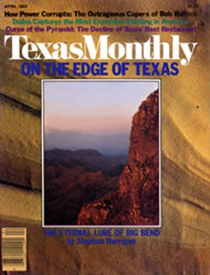 Cover of Texas Monthly April 1980