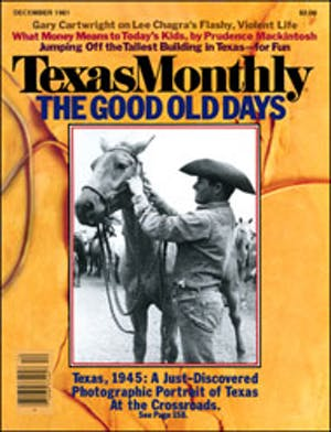 Cover of Texas Monthly December 1981
