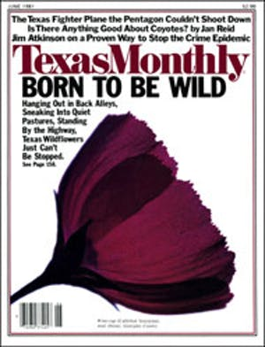 Cover of Texas Monthly June 1981