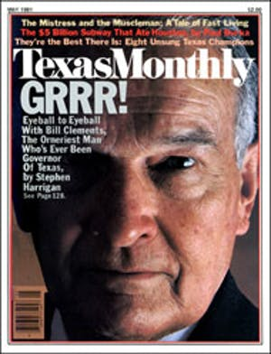Cover of Texas Monthly May 1981