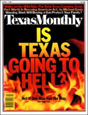 Cover of Texas Monthly April 1981