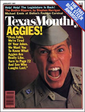 Cover of Texas Monthly January 1981