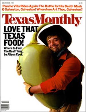 Cover of Texas Monthly December 1983
