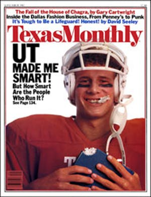 Cover of Texas Monthly September 1982
