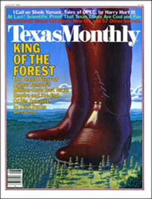 Cover of Texas Monthly August 1982