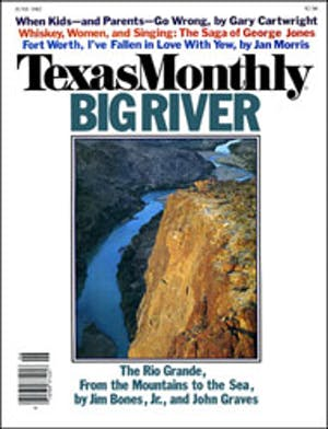 Cover of Texas Monthly June 1982