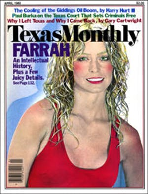 Cover of Texas Monthly April 1982