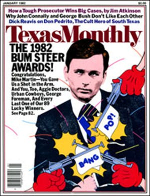 Cover of Texas Monthly January 1982