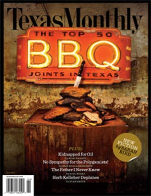 Cover of Texas Monthly June 2008