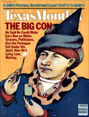 Cover of Texas Monthly September 1983