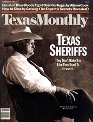 Cover of Texas Monthly November 1984