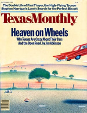 Cover of Texas Monthly September 1984