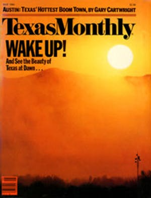 Cover of Texas Monthly May 1984