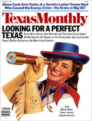 Cover of Texas Monthly March 1984