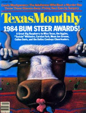 Cover of Texas Monthly January 1984