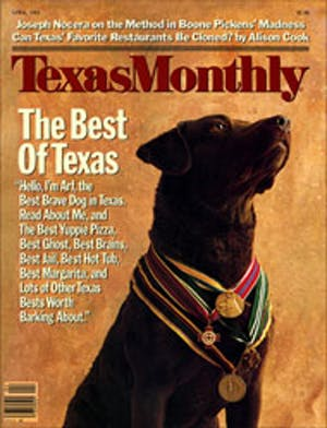 Cover of Texas Monthly April 1985