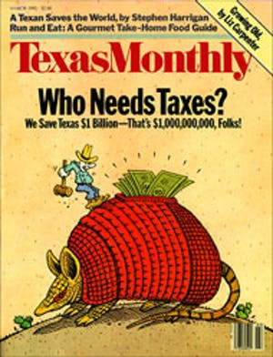 Cover of Texas Monthly March 1985