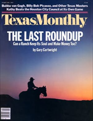 Cover of Texas Monthly February 1985