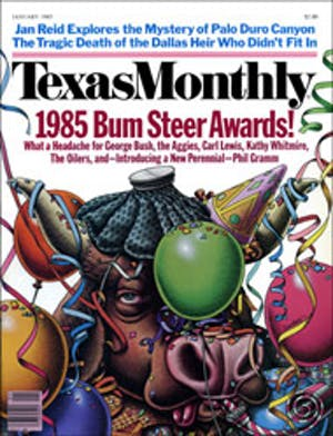 Cover of Texas Monthly January 1985