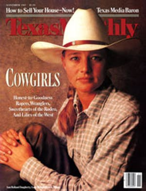 Cover of Texas Monthly November 1987