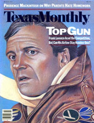 Cover of Texas Monthly March 1987
