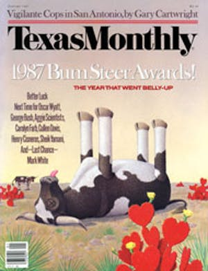 Cover of Texas Monthly January 1987