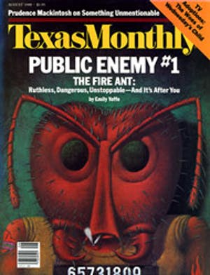Cover of Texas Monthly August 1988