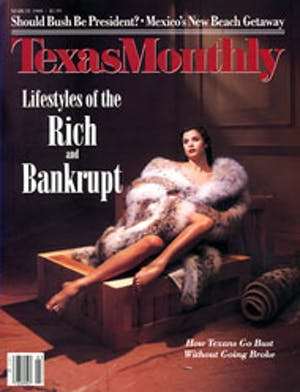 Cover of Texas Monthly March 1988