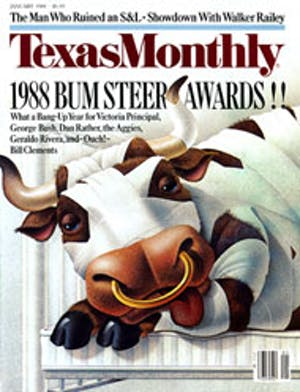 Cover of Texas Monthly January 1988