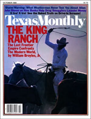 Cover of Texas Monthly October 1980