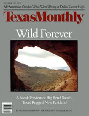 Cover of Texas Monthly December 1989