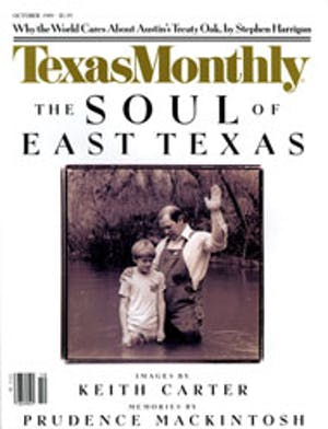 Cover of Texas Monthly October 1989