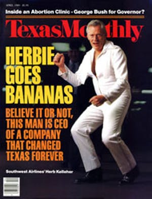 Cover of Texas Monthly April 1989
