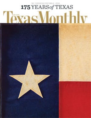 Cover of Texas Monthly March 2011
