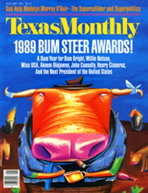 Cover of Texas Monthly January 1989