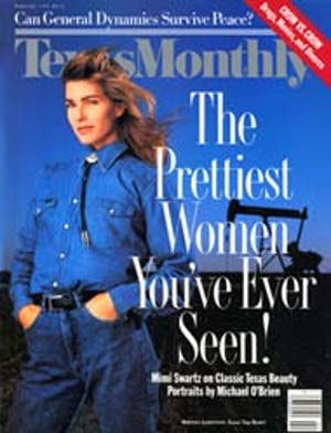 Cover of Texas Monthly February 1990