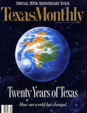 Cover of Texas Monthly February 1993