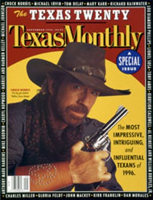 Cover of Texas Monthly September 1996